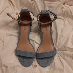 NWOT Call it spring denim sandals